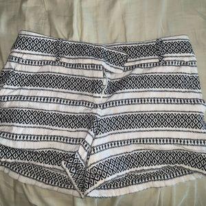 Loft size 2 black and white shorts